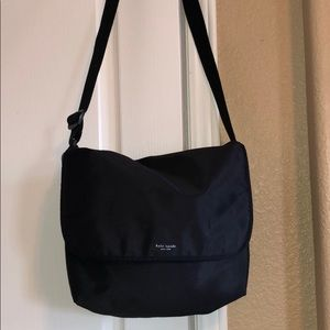Kate spade vintage black nylon messenger bag